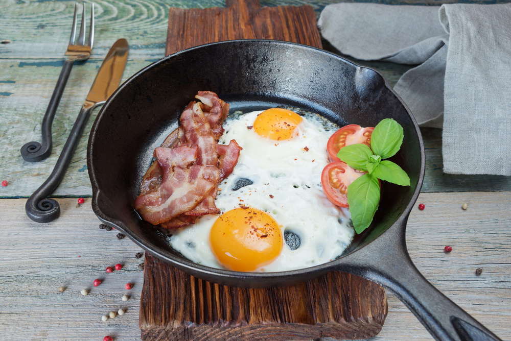 Breakfast in a rustic style