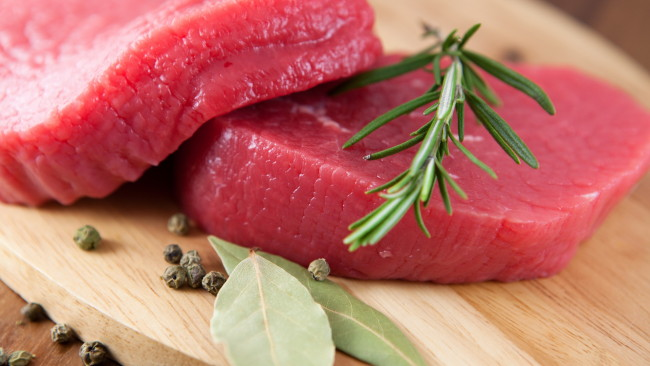 Fresh beef for steak